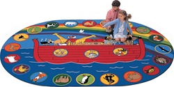 "Circletime Noah Rug - Oval - 8'3"" x 11'8"" - CFK1316 - Carpets for Kids"