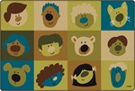 Friendly Faces Rug - Nature - CFK157XX - Carpets for Kids