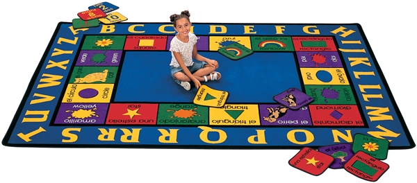 "Bilingual Rug - Oval - 8'3"" x 11'8"" - CFK1616 - Carpets for Kids"
