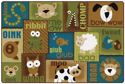 Animal Sounds Toddler Rug - Nature - CFK187XX - Carpets for Kids