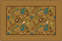 Paisley Pattern Rug - CFK1972XX - Carpets for Kids