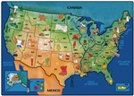 USA Learn & Play Map Rug - CFK20XX - Carpets for Kids