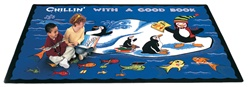 "Chillin' with a Good Book Rug - Rectangle - 8'4"" x 11'8"" - CFK2312 - Carpets for Kids"