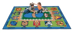 "Zippity Zoo Time Rug - Rectangle - 8'4"" x 11'8"" - CFK2512 - Carpets for Kids"