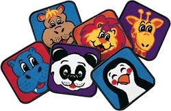 Zippity Zoo Animal Squares - Square - Set of 14 - CFK2514 - Carpets for Kids