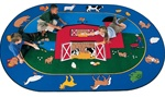 "Barnyard Rug - Oval - 6'9"" x 9'5"" - CFK2995 - Carpets for Kids"