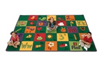 "Spanish Alphabet Blocks Rug - Rectangle - 3'10"" x 5'5"" - CFK3213 - Carpets for Kids"
