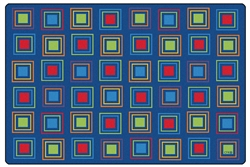 Primary Squares Seating Rug - CFK411XX - Carpets for Kids