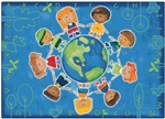 "Give the Planet a Hug Rug - Rectangle - 5'5"" x 7'8"" - CFK4415 - Carpets for Kids"