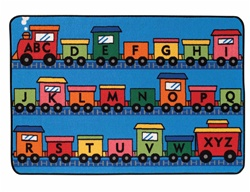 Alphabet Train Rug - Rectangle - 4' x 6' - CFK4815 - Carpets for Kids