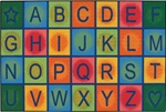 Simple Alphabet Blocks Rug - Rectangle - 4' x 6' - CFK4858 - Carpets for Kids