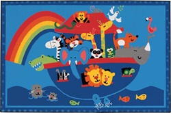 Noah's Animals Rug - Rectangle - 4' x 6' - CFK4874 - Carpets for Kids