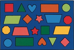 Color Shapes Rug - Rectangle - 4' x 6' - CFK4876 - Carpets for Kids