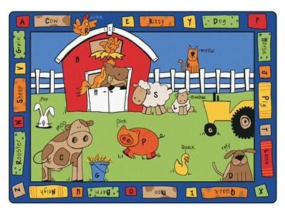 Alphabet Farm Rug - CFK52XX - Carpets for Kids
