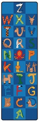 A to Z Animals Runners - Vertical - 3' x 10' - CFK553 - Carpets for Kids