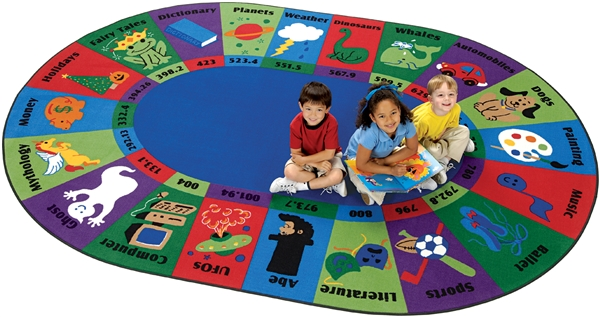 Dewey Decimal Fun Rug - CFK57XX - Carpets for Kids