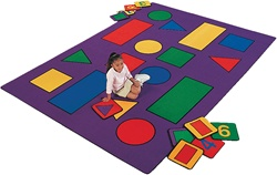 "Shapes Rug - Rectangle - 4'1"" x 5'10"" - CFK501 - Carpets for Kids"