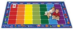 "French Calendar Rug - Rectangle - 8'4"" x 13'4"" - CFK6134 - Carpets for Kids"