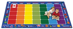 "French Calendar Rug - Rectangle - 7'6"" x 12' - CFK6112 - Carpets for Kids"