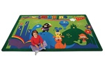 "A World of Imagination Rug - Rectangle - 3'10"" x 5'5"" - CFK6413 - Carpets for Kids"