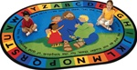 "Jesus Loves the Little Children Rug - Oval - 5'5"" x 7'8"" - CFK72005 - Carpets for Kids"
