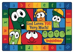 God Loves You Very Much VeggieTales Rug - CFK771XX - Carpets for Kids