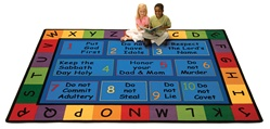 "God's Do's & Don'ts Rug - Rectangle - 7'8"" x 10'10"" - CFK79017 - Carpets for Kids"