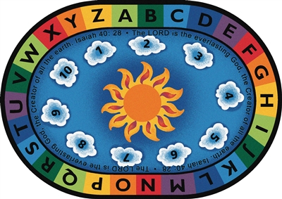 Isaiah 40:28 Circletime Rug - CFK794XX - Carpets for Kids