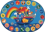 "Noah's Voyage Circletime Rug - Oval - 6'9"" x 9'5"" - CFK80006 - Carpets for Kids"