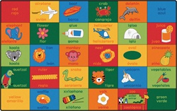 Bilingual Alphabet Blocks Rug - CFK80XX - Carpets for Kids