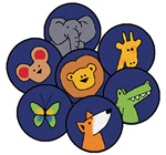 Gods Animals Kit of 20 Rounds - Round - Set of 20 - CFK82020 - Carpets for Kids