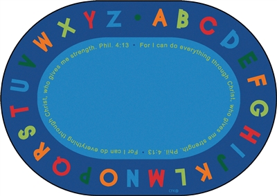Philippians 4:13 Literacy Rug - CFK825XX - Carpets for Kids