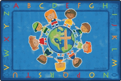 All God's Children Circletime Rug - CFK8441XX - Carpets for Kids
