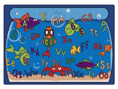 Alphabet Aquarium Rug - CFK89XX - Carpets for Kids