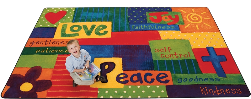 Spiritual Fruit Painted Rug - CFK901XX - Carpets for Kids