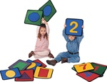 Shape/Number Square - Square - Set of 20 - CFK920 - Carpets for Kids