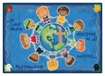"Great Commission Children's Rug - Rectangle - 7'8"" x 10'10"" - CFK92017 - Carpets for Kids"