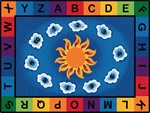"Sunny Day Learn & Play Rug - Rectangle - 5'10"" x 8'4"" - CFK9400 - Carpets for Kids"