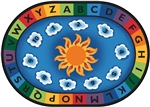 "Sunny Day Learn & Play Rug - Oval - 4'5"" x 5'10"" - CFK9445 - Carpets for Kids"