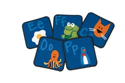 Fun with Phonics Kit - Square - Set of 26 - CFK9626 - Carpets for Kids