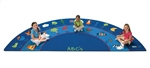 "Fun with Phonics Rug - Semi-Circle - 6'8"" x 13'4"" - CFK9634 - Carpets for Kids"