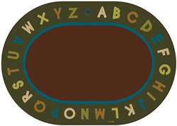"Alphabet Circletime Rug Factory Second - Nature - Oval - 8'3"" x 11'8"" - CFKFS10708 - Carpets for Kids"