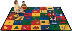 "Blocks of Fun Rug Factory Second - Rectangle - 4'5"" x 5'10"" - CFKFS1301 - Carpets for Kids"