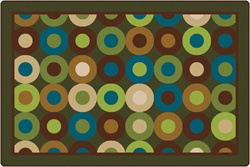 Calming Circles Rug Factory Second - Rectangle - 6' x 9' - CFK13726 - Carpets for Kids