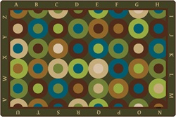 Alphabet Calming Circles Rug Factory Second - Rectangle - 8' x 12' - CFK17728 - Carpets for Kids