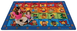 "American Sign Language Seating Rug Factory Second by Baby Signs - Rectangle - 7'8"" x 10'10"" - CFKFS1917 - Carpets for Kids"
