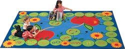 "ABC Caterpillar Rug Factory Second - Rectangle - 5'10"" x 8'4"" - CFKFS2200 - Carpets for Kids"