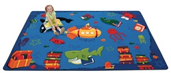 "Dive into Reading Rug Factory Second - Rectangle - 7'8"" x 10'10"" - CFKFS3317 - Carpets for Kids"