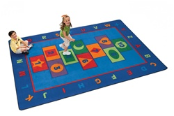 "Hopscotch Learning Rug Factory Second - Rectangle - 5'10"" x 8'4"" - CFKFS3600 - Carpets for Kids"