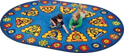 "Busy Bee ABC Learning Rug Factory Second - Oval - 8'3"" x 11'8"" - CFKFS4316 - Carpets for Kids"